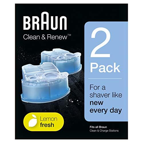 BRAUN Clean et Renew Pack de 2 Cartouches de Recharge CCR
