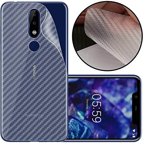 Kite Digital Compatible with Nokia 6.1 Plus Back Screen Protective Film Carbon Fiber Skin Transparent Screen Guard Sticker