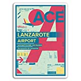 Lanzarote Airport Travel #17174 Art Wall Decoration Metal Sign 8X12 Inch