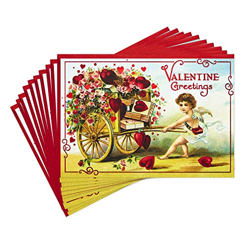 Hallmark Pack of Valentines Day Cards, Valentine Greetings (10 Valentine's Day Cards with Envelopes)
