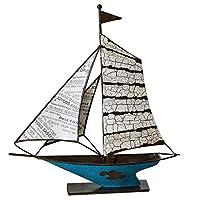 家の装飾 ヨットクリエイティブモデルの装飾品リビングルームポーチワインキャビネット家の装飾現代の装飾的なボートの装飾品 クラフトギフト (Size : L)