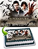 Supernatural Edible Image Cake Topper Party Personalized 1/4 Sheet
