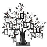 Mutuer Árbol de exhibición del Marco de la Imagen del árbol genealógico con Marcos de imágenes Colgantes Decoración de Mesa Independiente para el hogar(L)