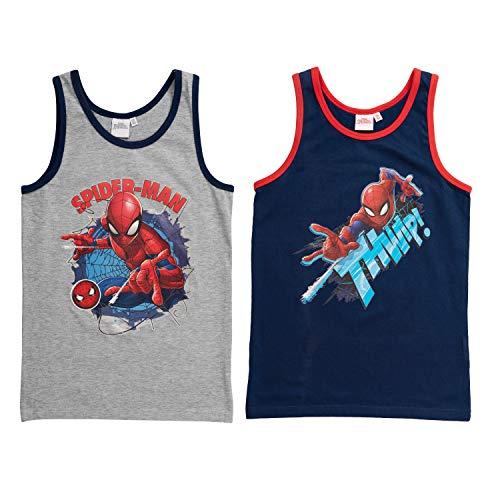 United Labels Spider-Man – Jungen Hemdchen 2er Pack, Unterhemd Kinder Tank Top (110/116)