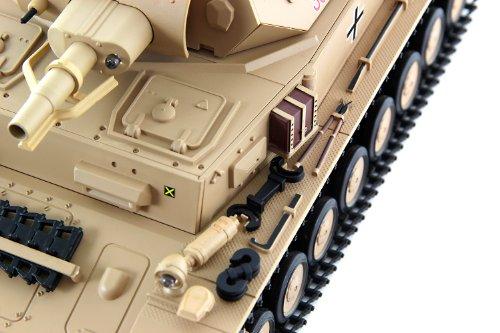 RC Auto kaufen Kettenfahrzeug Bild 3: XciteRC 35511000 Ferngesteuerter RC Panzer Modellpanzer DAK Kampfwagen IV F-1 - Ready to Race Sound and Smoke 1:16, braun*