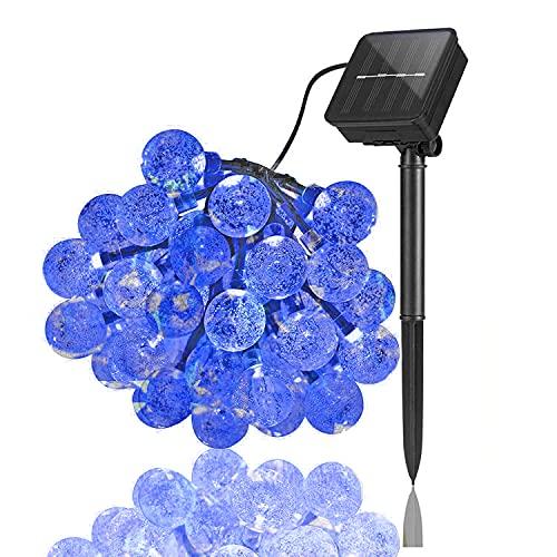 XIAOQIAO 50 / 30LEDS 10M Ball de Cristal Luz Solar Luz al Aire Libre IP65 Filos Impermeables Lámparas de Hadas de jardín Solar Garlands Decoración navideña