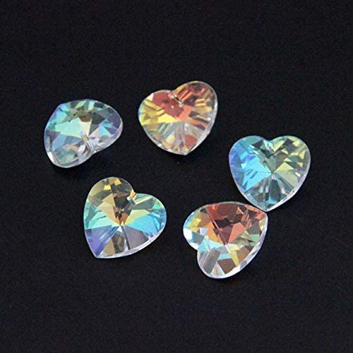 Jammas Year-end gift 28mm 1 Hole Heart Denver Mall Shape Ornament Colors Glass Bea 4 Beads