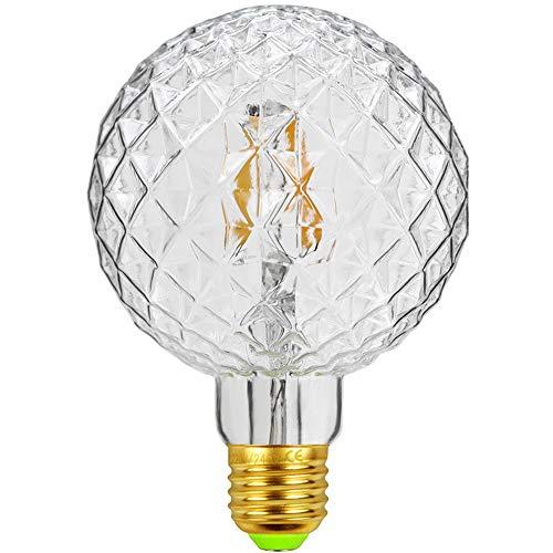 Tianfan LED-Glühlampe, Retro-Leuchtmittel, 4 W, 220/240 V, E27, dekorative Glühlampe, G95 Kristall Antik farblos