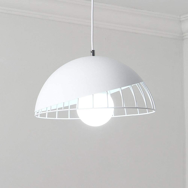 YAYONG Chandelier Restaurant Modern Minimalist Nordic Creative Table Lampe Runde LED Macaron Pendant Light Weiß