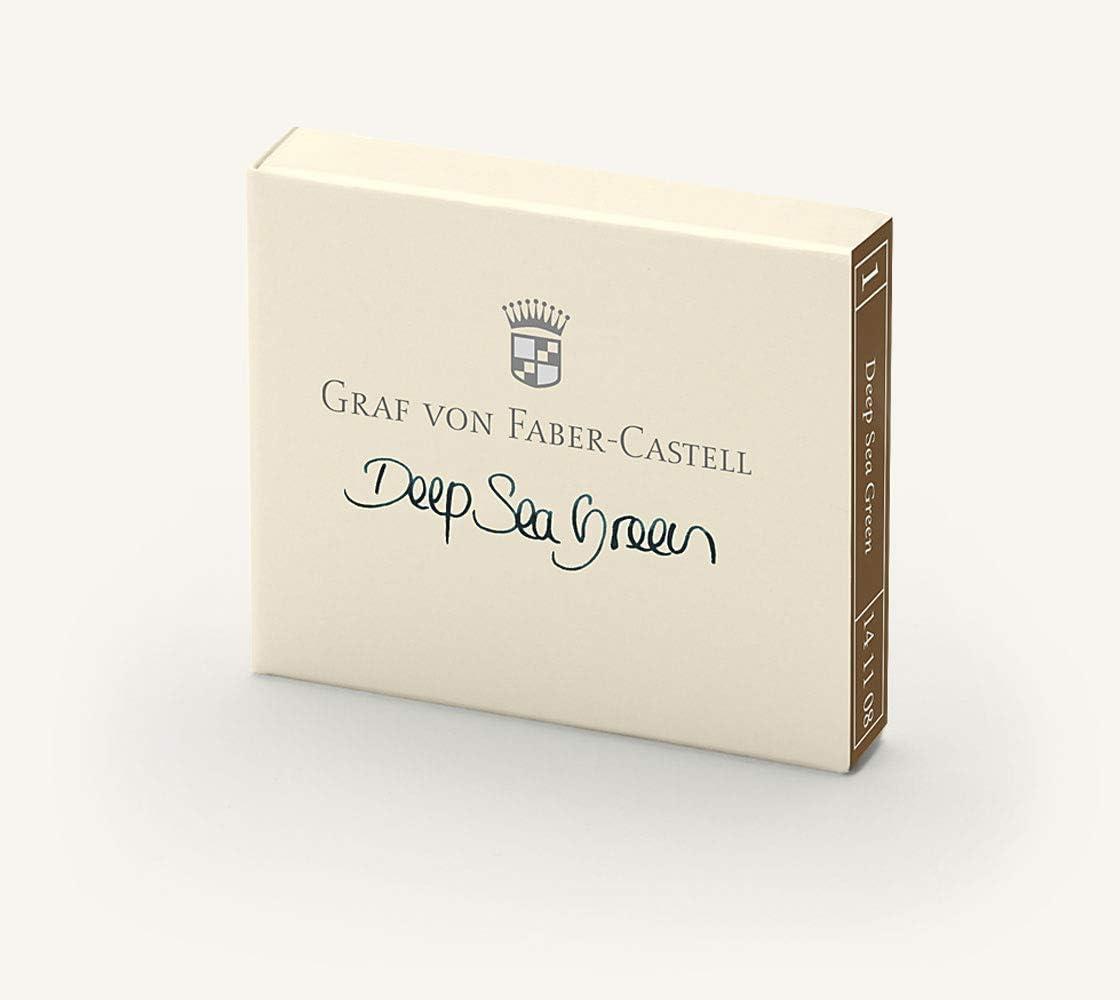 Graf von Faber-Castell 141108 Ink Cartridge of Financial sales sale Set Deep Sea Max 68% OFF 6
