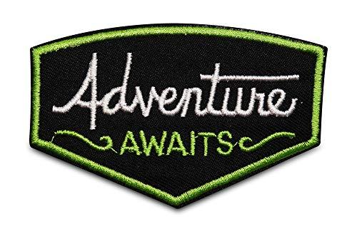 Finally Home Adventure Awaits Das Abenteuer wartet Patch zum Aufbügeln | Zelt, Baum Patches, Bügelflicken, Flicken, Aufnäher