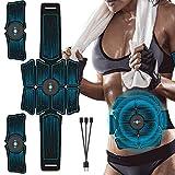 KOLIU EMS Cinturón Abdominal Electroestimulación ABS Estimulador Muscular Cadera Entrenador Muscular Toner Gimnasio casero Equipo de Ejercicios