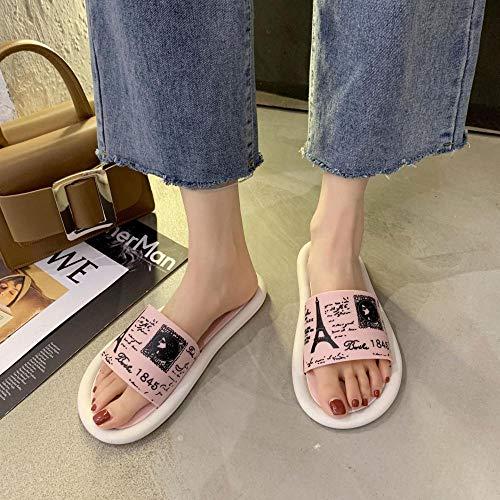N/A Hundespielzeug , Damen Hausschuhe, Haus Badezimmer Hausschuhe für den Außenbereich, rutschfeste Sandalen für Paare-Pink_34 / 35