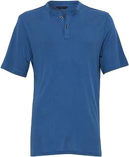 Cyberjammies 6101 Men's Harry Blue Knit Cotton and Modal Pyjama Pajama PJ Top