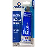 Permatex 80022-12PK Sensor-Safe Blue RTV Silicone Gasket Maker, 3 oz. Tube (Pack of 12)