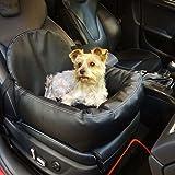 Knuffliger Leder-Look Autositz für Hund, Katze oder Haustier inkl. Gurt und Sitzbefestigung empfohlen für Nissan 370 Z