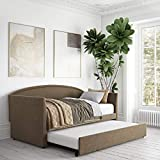 DHP Clara Linen Daybed with Trundle Set, Sofa Bed, Twin Size Frame, Oatmeal