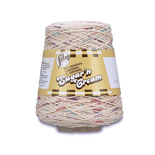 Lily Sugarn Cream Cotton Cone Yarn, 14 oz, Potpourri Prints, 1 Cone