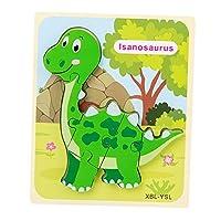 Perfeclan 幼児のための1 2 3歳の男の子木製恐竜パズル子供のための年齢3ベビー幼児学習教育恐竜のおもちゃギフト - Style4