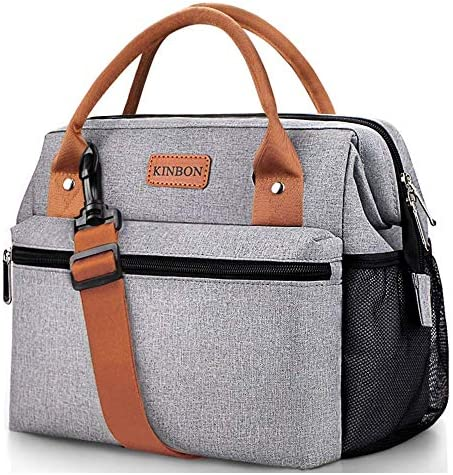 KINBON Lunch Bag Insulated Lunch Box for Women Men Reusable Lunch Bag with Adjustable Shoulder product image
