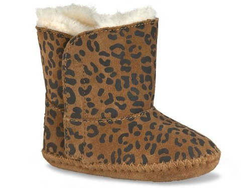 Ugg Australia UGG Unisex - Baby Classic Leopard Krabbelschuhe, Camel, 30/31 EU