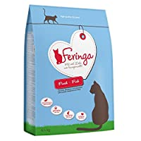 Feringa Adult Fish Economy Pack 2 x 6.5kg dry food is made from carefully selected fish. Cats are natural carnivores, and Feringa provides a natural, species-appropriate diet. Feringa contains absolutely no grains, as cats are not able to digest them...