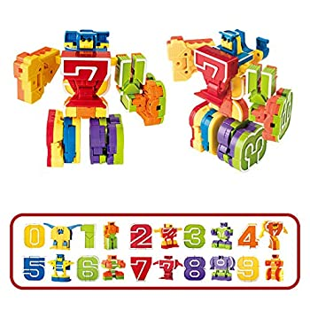 Cyeah Number Robot Toys for Kids Education 10 Pieces