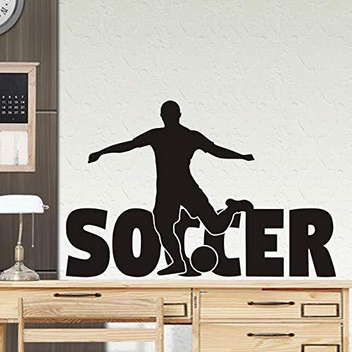 Fútbol Deportes Logo Jugador de fútbol Tiro Gol Messi C Ronaldo Etiqueta de la pared Vinilo Coche Calcomanía Niño Niños Fans Dormitorio Sala de estar Club Decoración para el hogar Mural