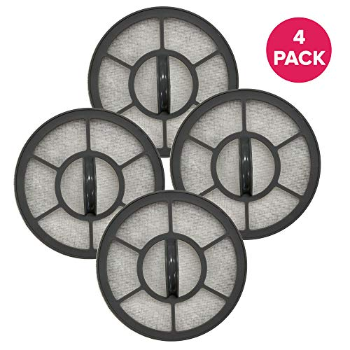 Think Crucial Exhaust Motor Filter Replacement Filter Compatible with Eureka Vacuum Part# EF-7, 68657, 091541 & Models AS3001A, AS3008A, AS3011A, AS3030A, AS3401AX (4 Pack)