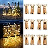 Luz de Botella (12 Pack), 2m 20 LED Lámparas de Botellas con Alambre de Cobre, LED Corcho Micro...