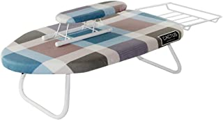 Ironing Board, Small Mini Iron Worktop Table Shelves Compact Desktop Ironing Board Multifunction Multicolor Optional Folding Storage Breathable Foldable Washable Save Space Reinforced Bracket(E)