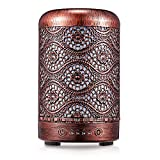 Diffusore di oli essenziali per auto Umidificatore Diffusore di aromaterapia lenitivo in metallo per casa, yoga, ufficio, SPA, camera da letto, umidificatori a nebbia fredda