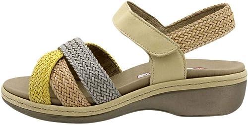 Zapato Cómodo mujer Sandalia Plantilla Extraíble 190809 PieSanto