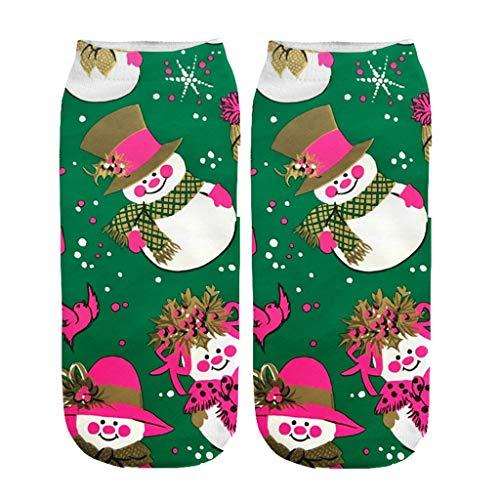 AIni Calcetines de Navidad de Estampados Lindos de Dibujos Animados,Calcetines Cálidos de Invierno Calcetines de Decoración Navideña,Arbol de Navidad,Calcetines para Adultos Cómodo Calcetines
