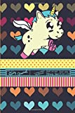 Chubby Unicorn Story Journal Composition Notebook Half Unruled Drawing Space Half Wide Ruled Lines: Combined Dual Write and Sketch Blank Workbook