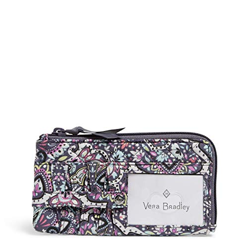 Vera Bradley Signature Cotton Ultimate Card Case Wallet with RFID Protection, Bonbon Medallion
