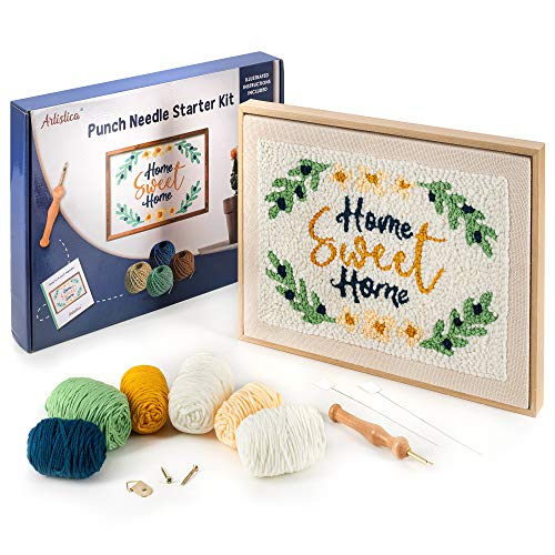 Artistica Punch Needle Kit with Instructions - Starter Embroidery Kit - Rug Hook Needle Pointing Kit (15' x 11')