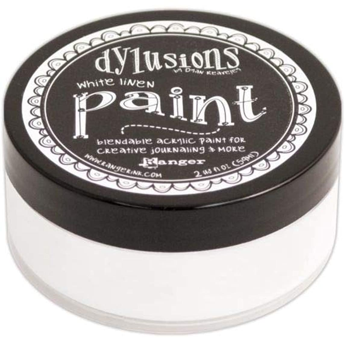 Ranger Dyan Reaveley's Dylusions Paint, 2 oz, White Linen