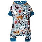 kyeese Dogs Pajamas for Medium Dogs Owl Soft Material Stretchable Dog Pajamas Onesie Dog Apparel