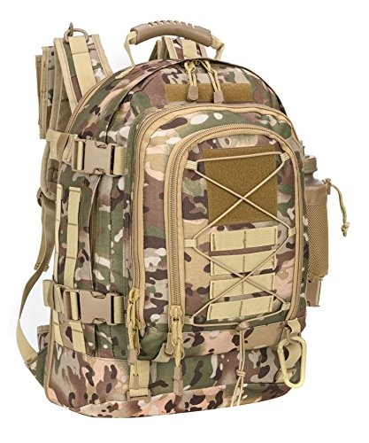 Military Expandable Travel Backpack Tactical Waterproof Work Backpack for Men(OCP)