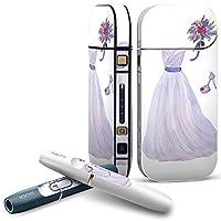 IQOS 2.4 plus 専用スキンシール COMPLETE アイコス 全面セット サイド ボタン デコ おしゃれ ファッション 紫 010089