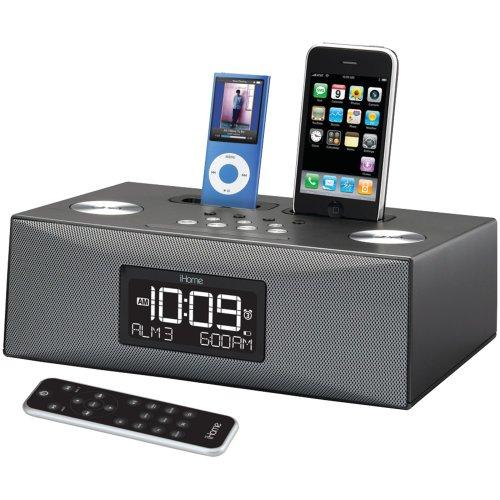 iP88GC - Dual Dock Triple Alarm Clock Radio for iPhone iPod