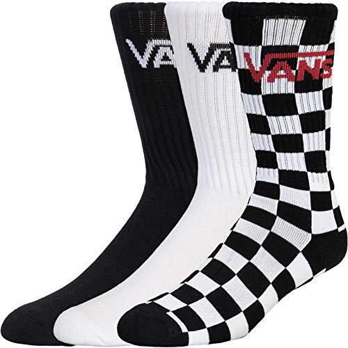 Vans Classic Crew 3er Pack Socken (39, check/white/black, numeric_39)
