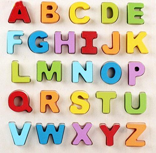 La Vogue Jouets d'éveil Puzzle Bébé et Enfant Jeu Educatif et Scientifique 2 Choix L'alphabet de A à Z ou Puzzle Chiffre 31*30*2.5cm (puzzle alphabet)