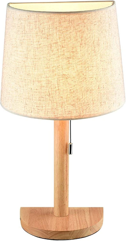 Nordic Wei Massivholz Zugschnurschalter Tischlampe Holzsockel E27 Licht Kreative Studie Schreibtisch Licht Wohnzimmer Schlafzimmer Nacht Dekoration Desktop Leuchte