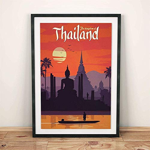 Poster Thailand Vintage Travel Poster G.a.p Year Poster, Paper Art Wall Poster - No Frame(24x36)