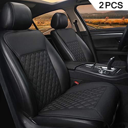 Black Panther 2PCS Sitzauflagen Auto mit Rückenlehne Autozubehör Geeignet für Vier Jahreszeiten(Schwarz)