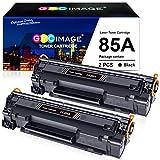 GPC Image Cartuchos de Tóner Compatible para HP CE285A 85A (2 Negro) para HP Laserjet Pro P1100 P1102 P1102W P1109W M1132 M1132MFP M1212NF M1217NFW Laser Impresora, 1600 Páginas por Cartucho de Tóner