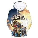 Yuanou Legend of Zelda Wilderness 3D Hoodies Sudaderas con Capucha Hombres (A,M)