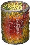 LED Mosaic Flameless Candle, Cracked Glass Pattern, 3